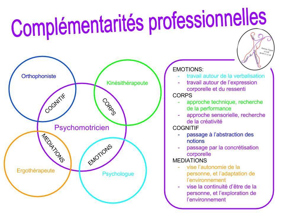 complémentarité professionnelle psychomotricien