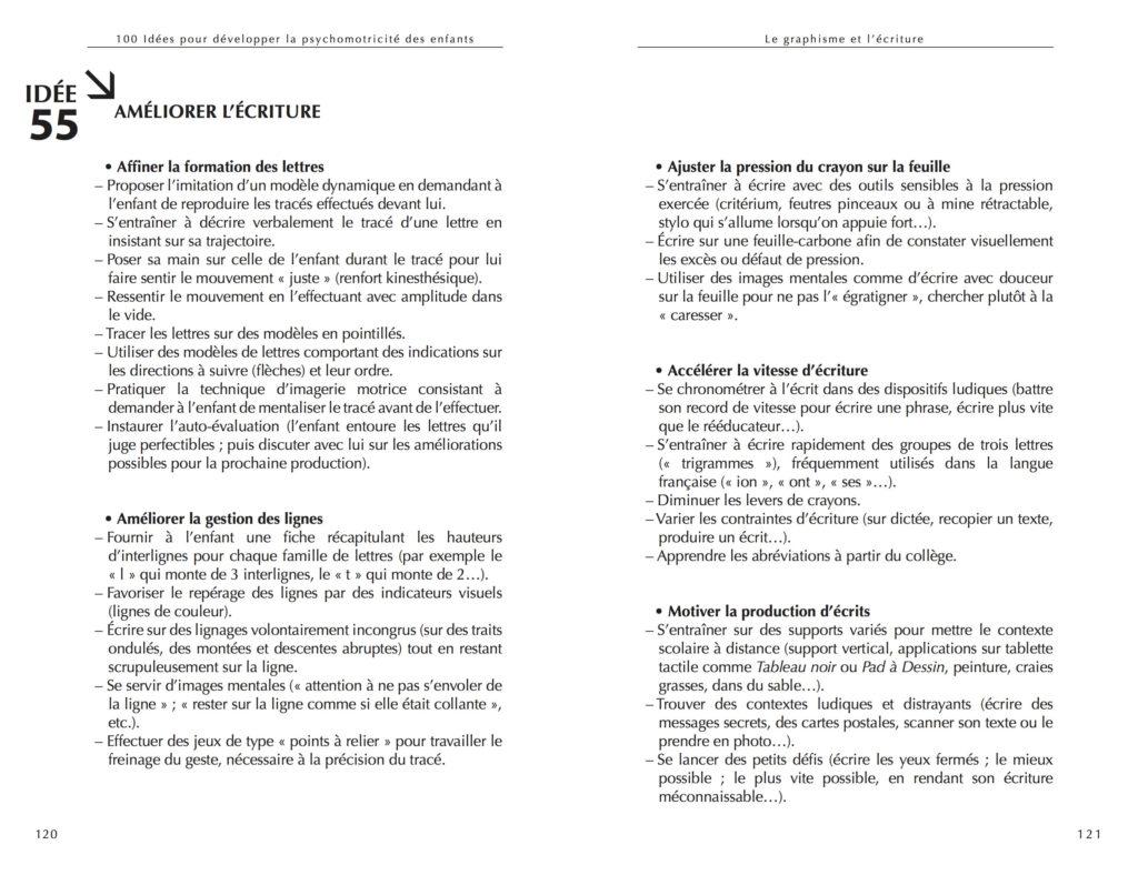 Améliorer l'écriture [100 idées psychomotricité] D'Ignazio-Martin